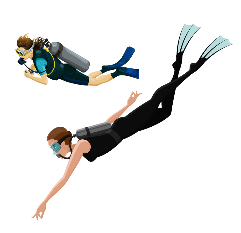 Download and underwater for. Men clipart diving
