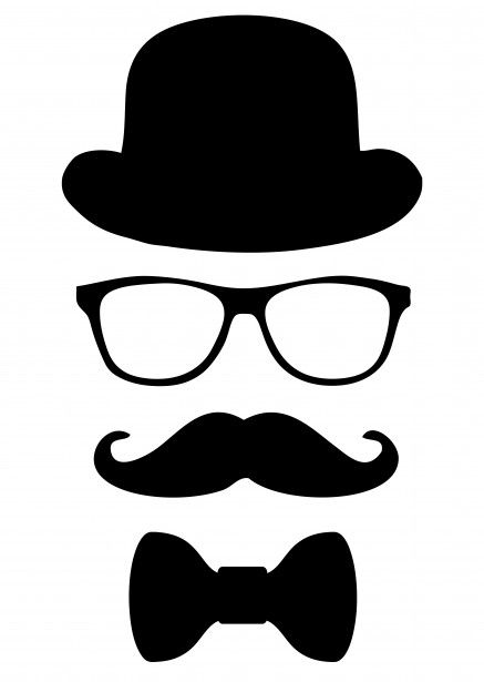 Men clipart simple. Black clip art illustration