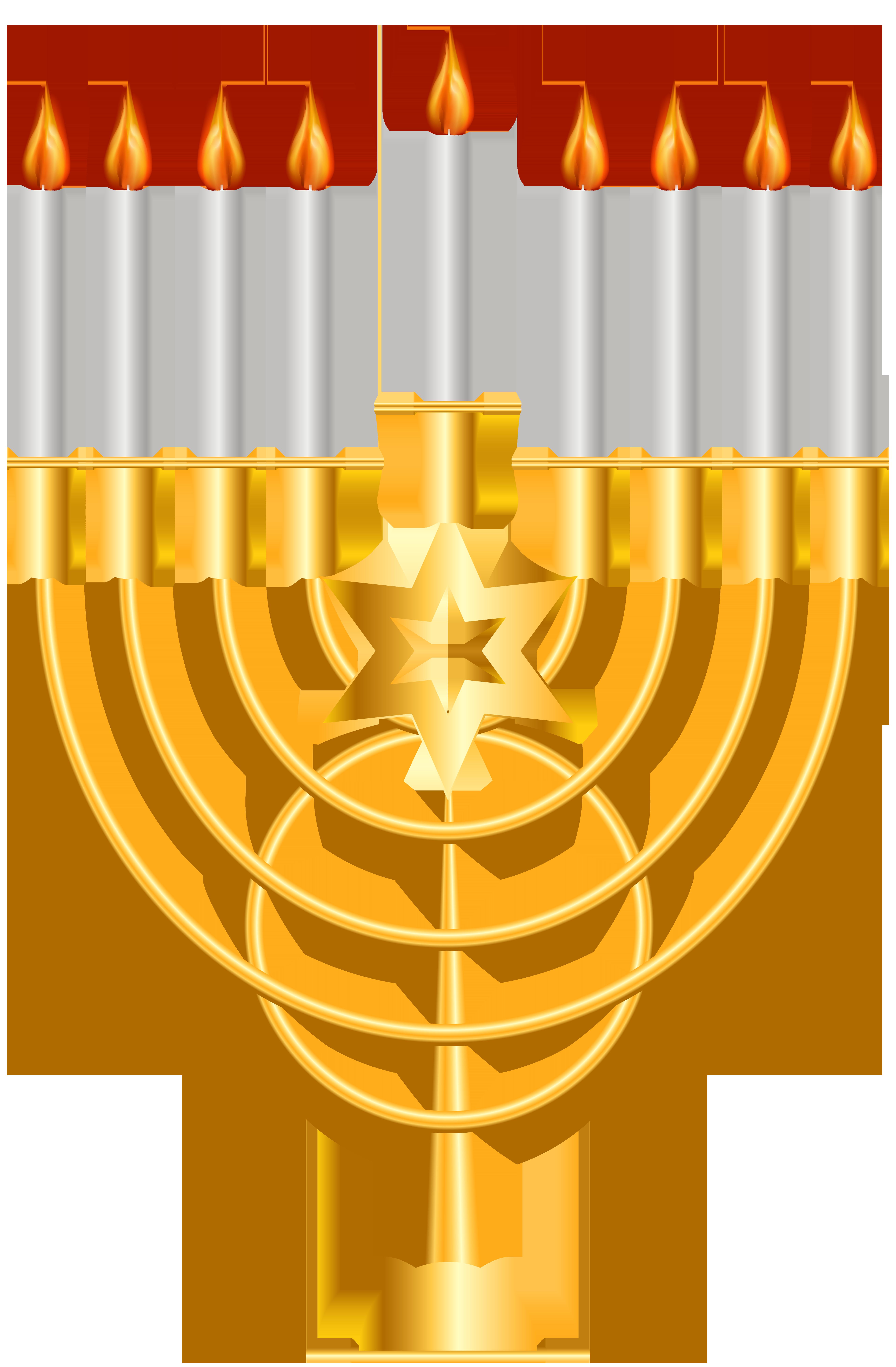 Menorah gold png clip. Decoration clipart hanukkah