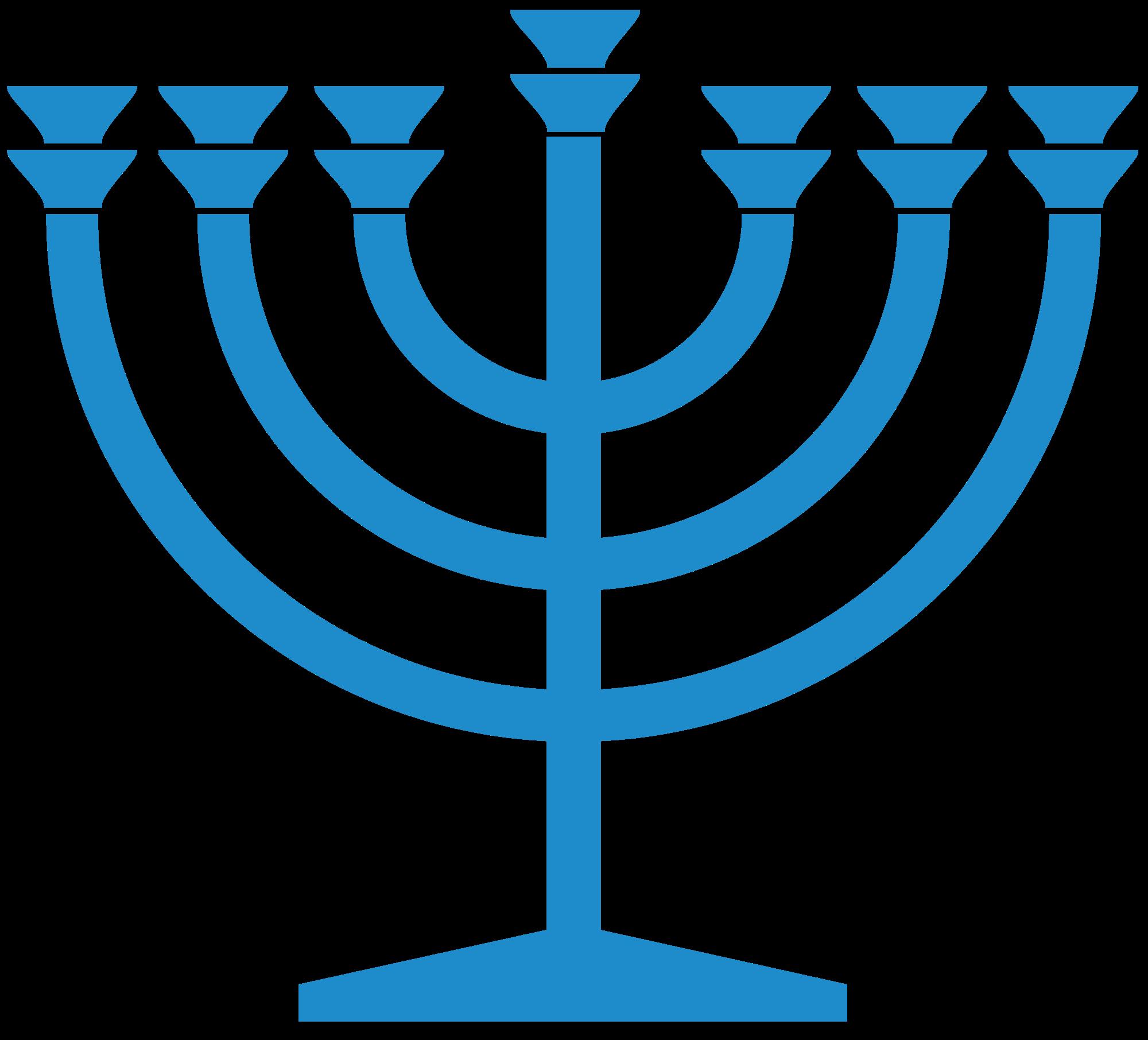 File blue wikimedia commons. Menorah clipart svg
