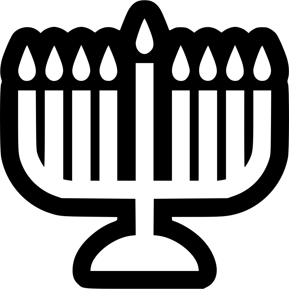 Menorah clipart svg. Png icon free download