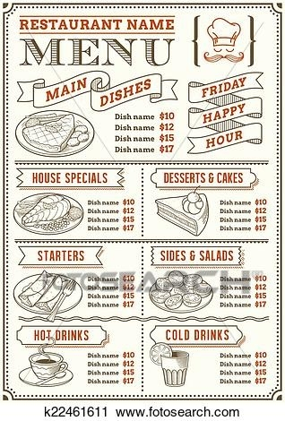 Restaurant writings and essays. Menu clipart