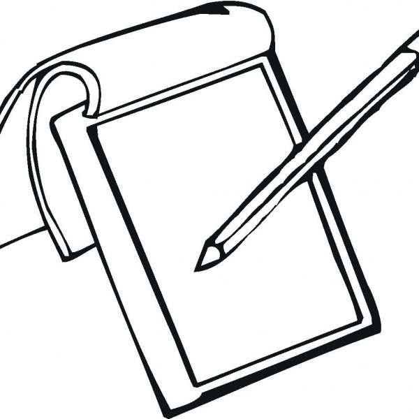 Notebook corner of chart. Notepad clipart black and white