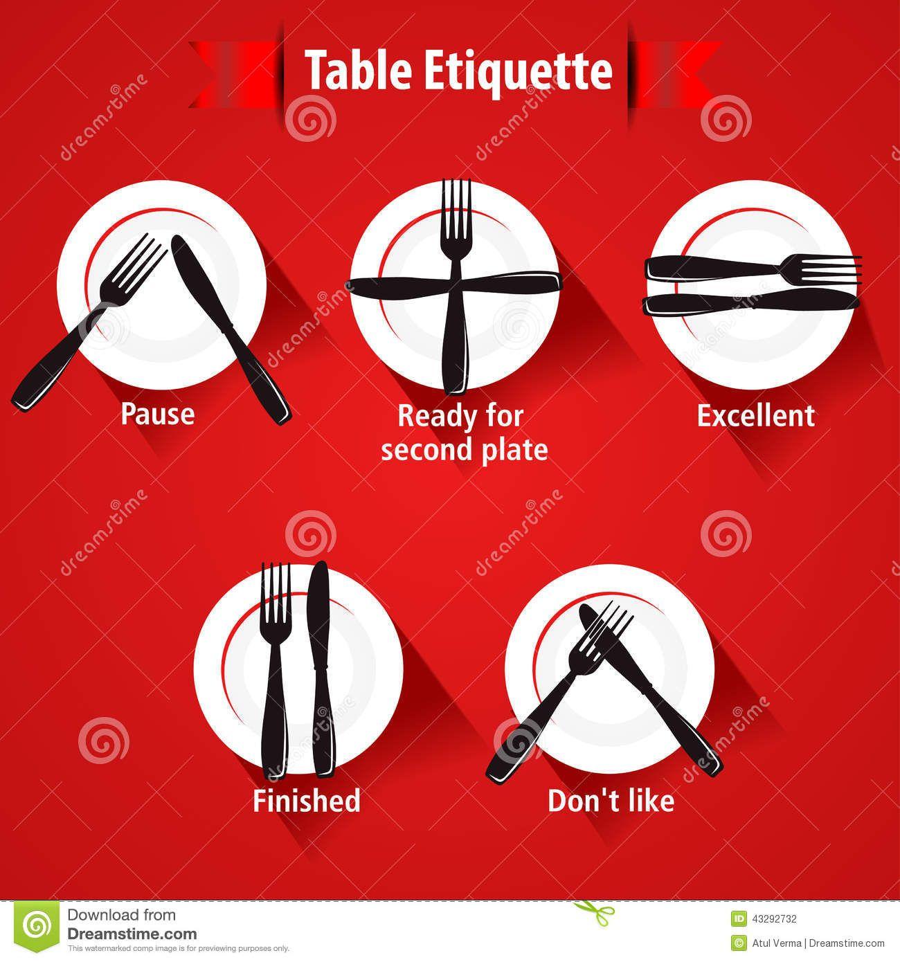 Menu clipart etiquette dinner. Dining pinterest