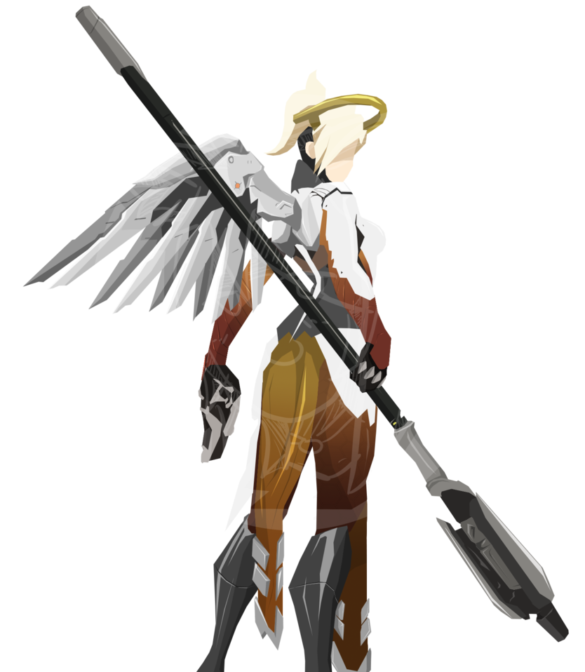 Mercy overwatch png. Cel shade by skyhd