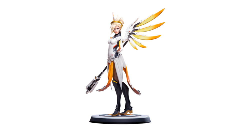 Mercy overwatch png. Statue blizzard gear store