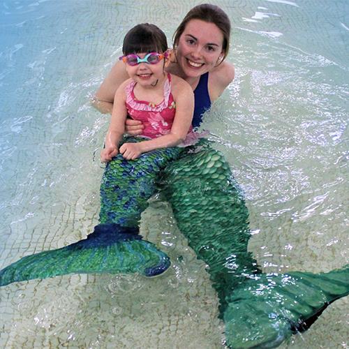 Aquatics class at the. Mermaid