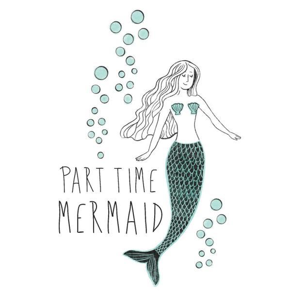 Mermaid. Part time green wall