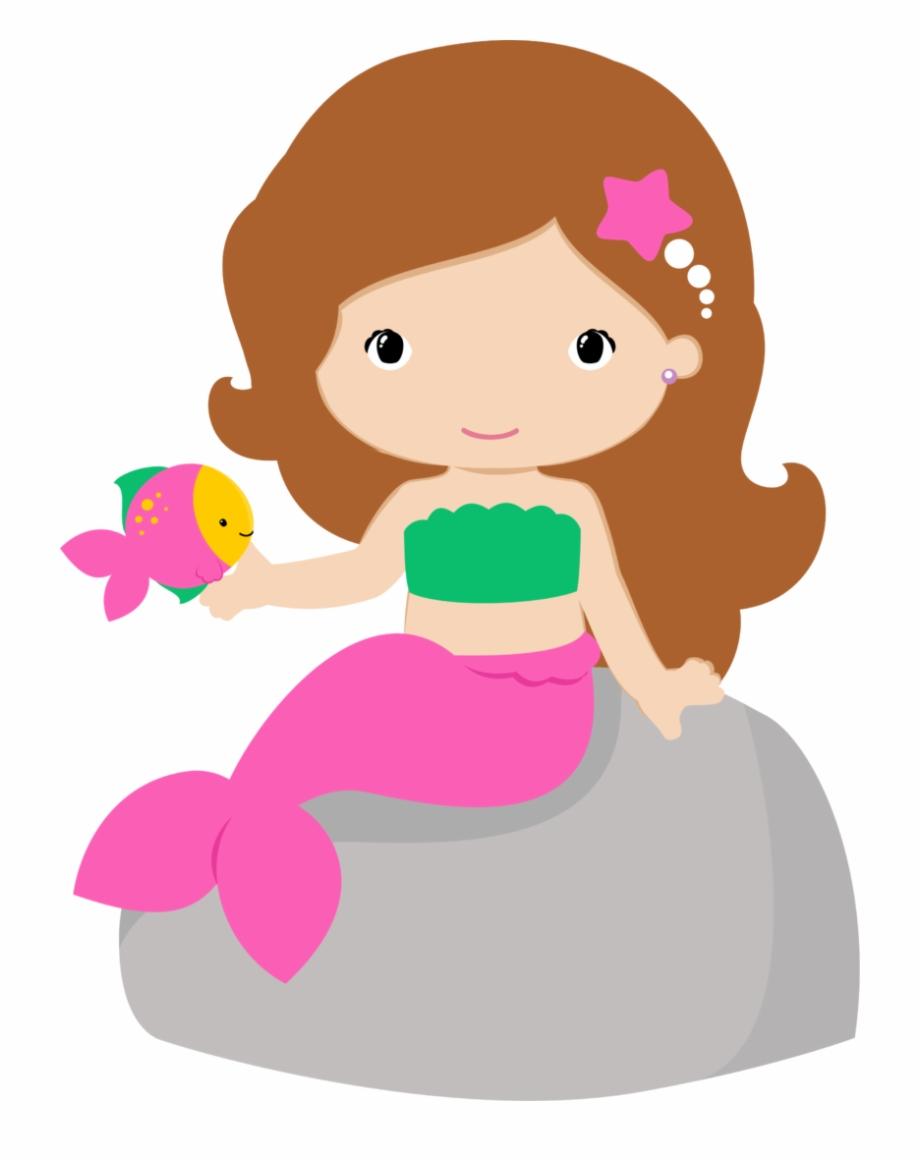 Sea free png images. Mermaid clipart cute