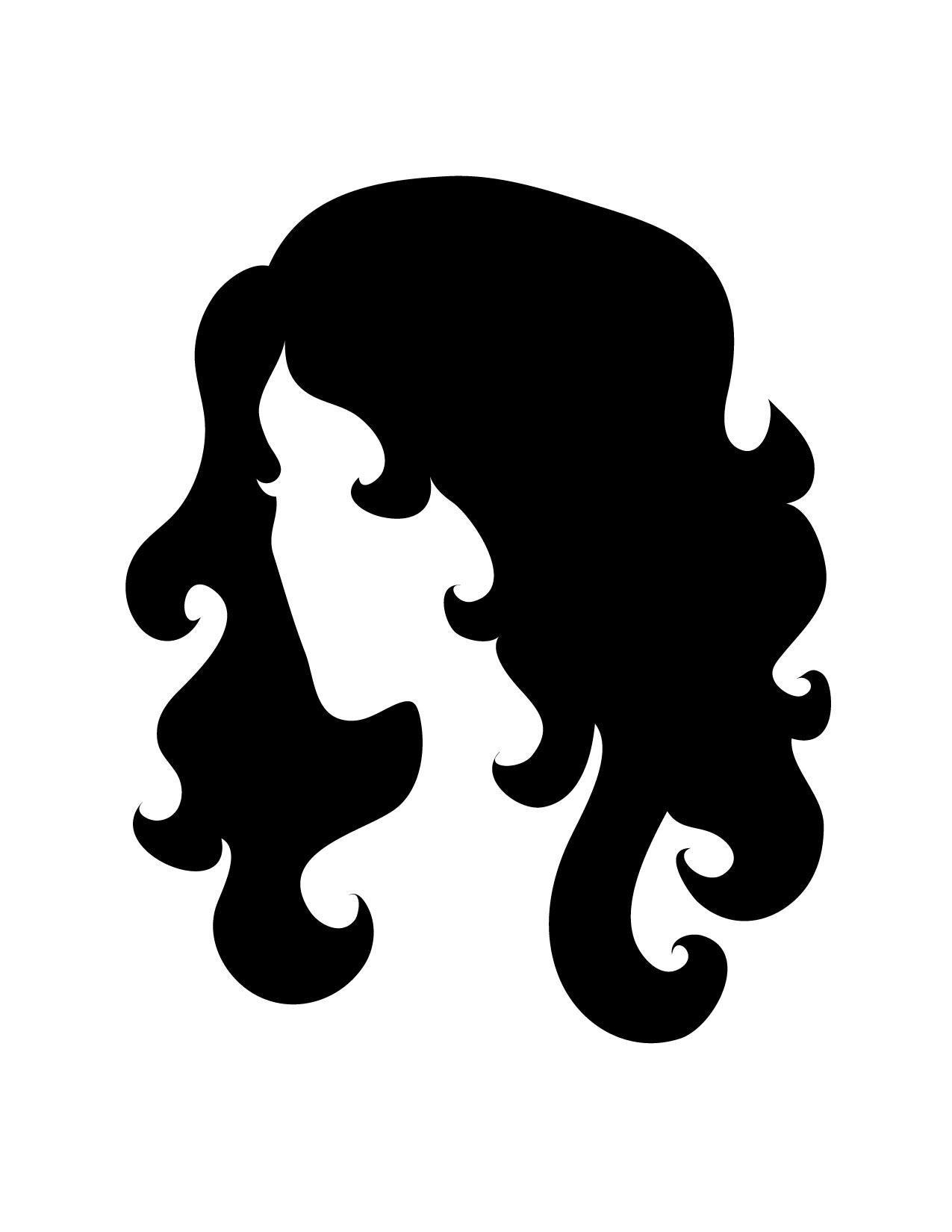 Outline clip art library. Mermaid clipart head