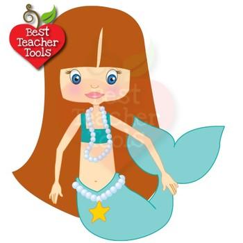 mermaid clipart nautical