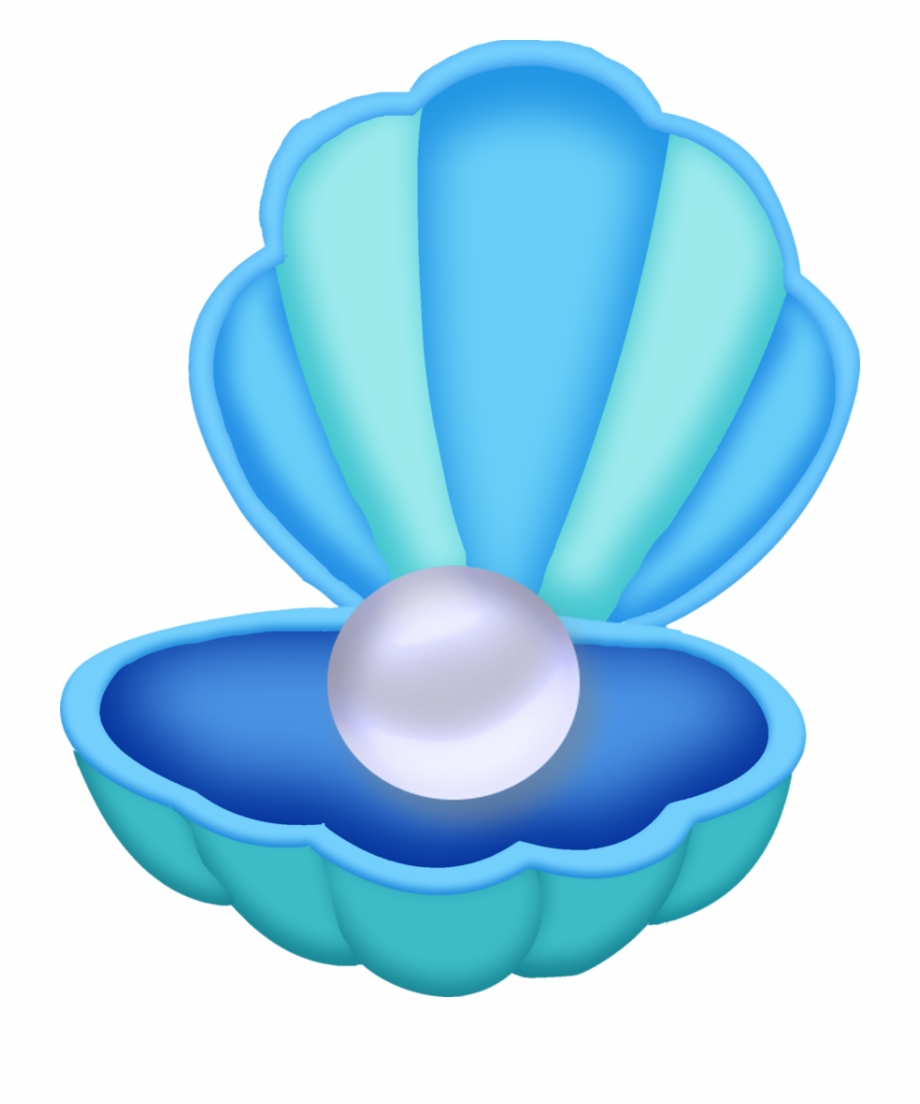 Mermaid clipart pearl. Oyster with free png