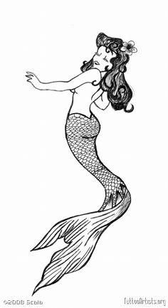 Free vintage cliparts download. Mermaid clipart retro