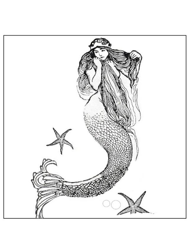 Mermaid clipart retro. Free vintage cliparts download