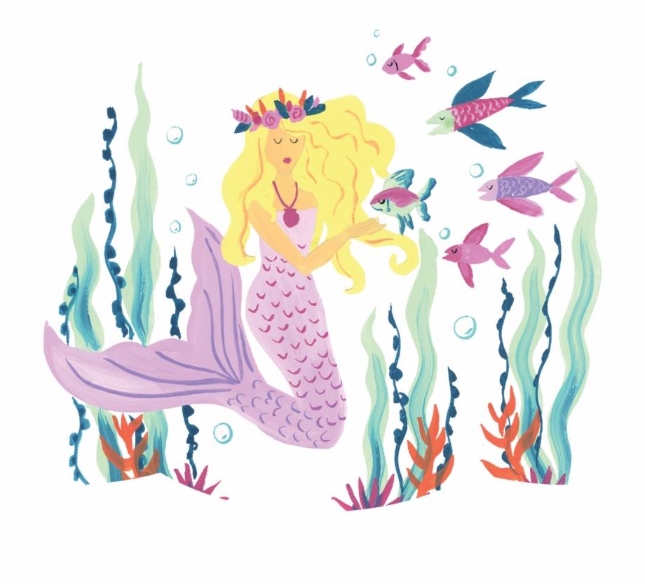 Illustration pngtube . Mermaid clipart scene