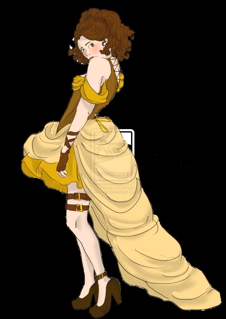 Belle by reinya disney. Mermaid clipart steampunk
