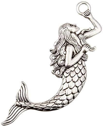 Mermaid clipart victorian. Solid oak steampunk metal