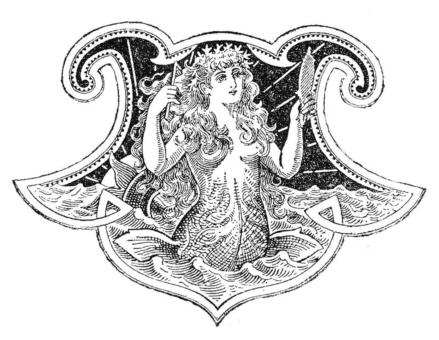 clip art images. Mermaid clipart victorian