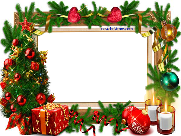 Photo templates for free. Merry christmas frame png