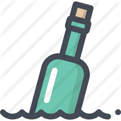 Message in a bottle png. Free nature icons