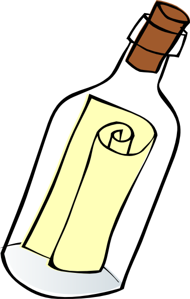 Clipart . Message in a bottle png