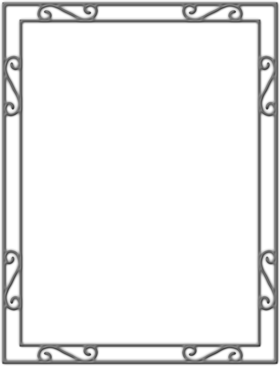 Metal border png. Picture frames wrought iron