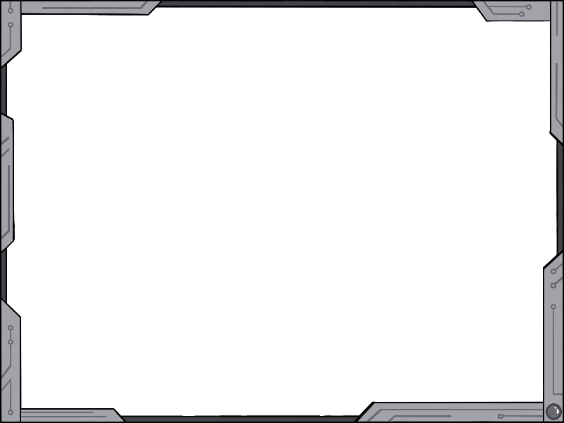Simple futuristic design ver. Metal border png