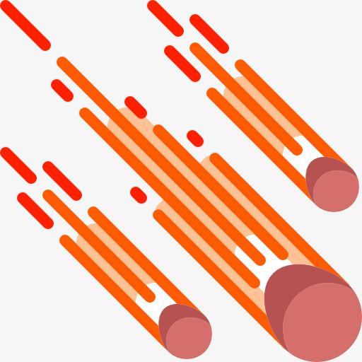 Meteor clipart. Space elements exploration icon