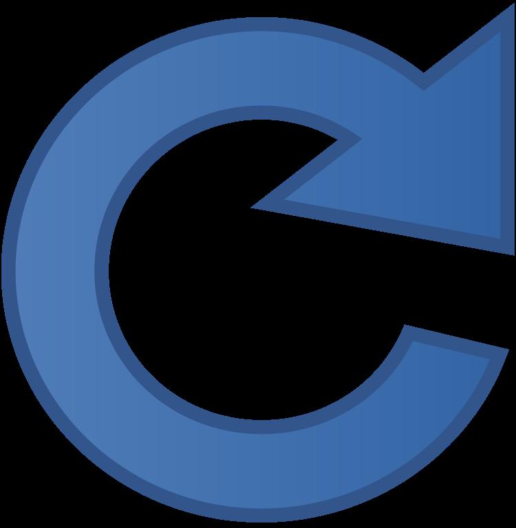 File reload icon svg. Meteor clipart blue