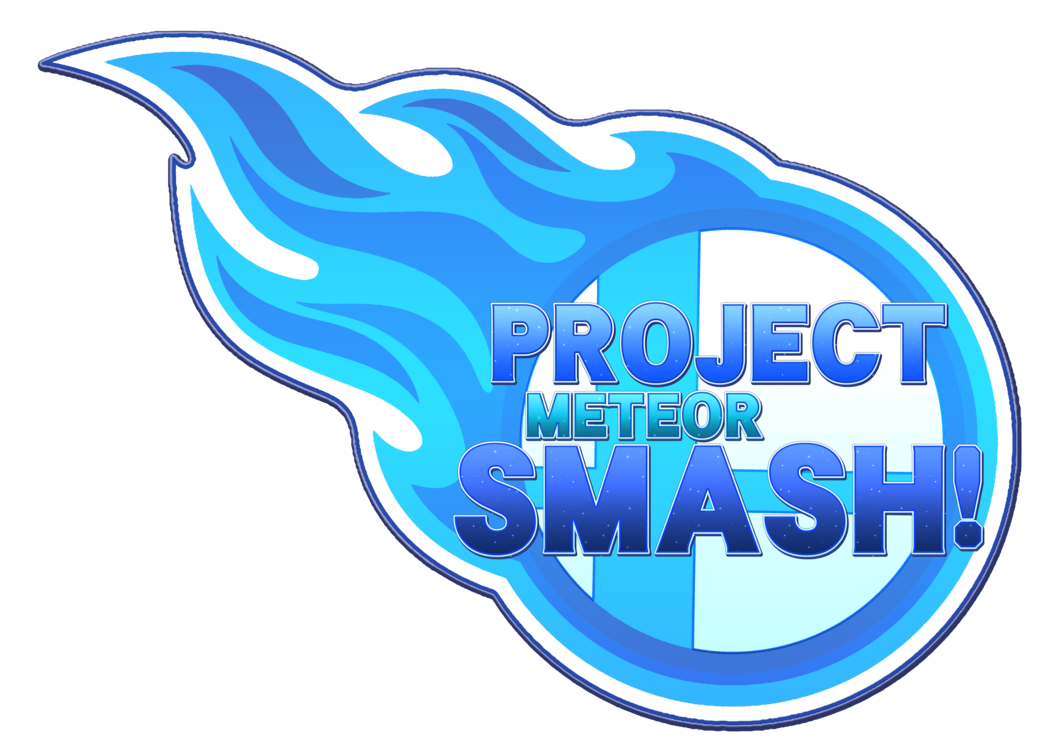 Meteor clipart blue. Project smash logo by