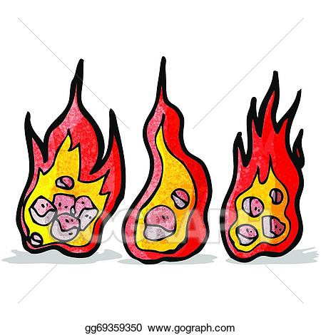 Eps vector cartoon stock. Meteor clipart flaming