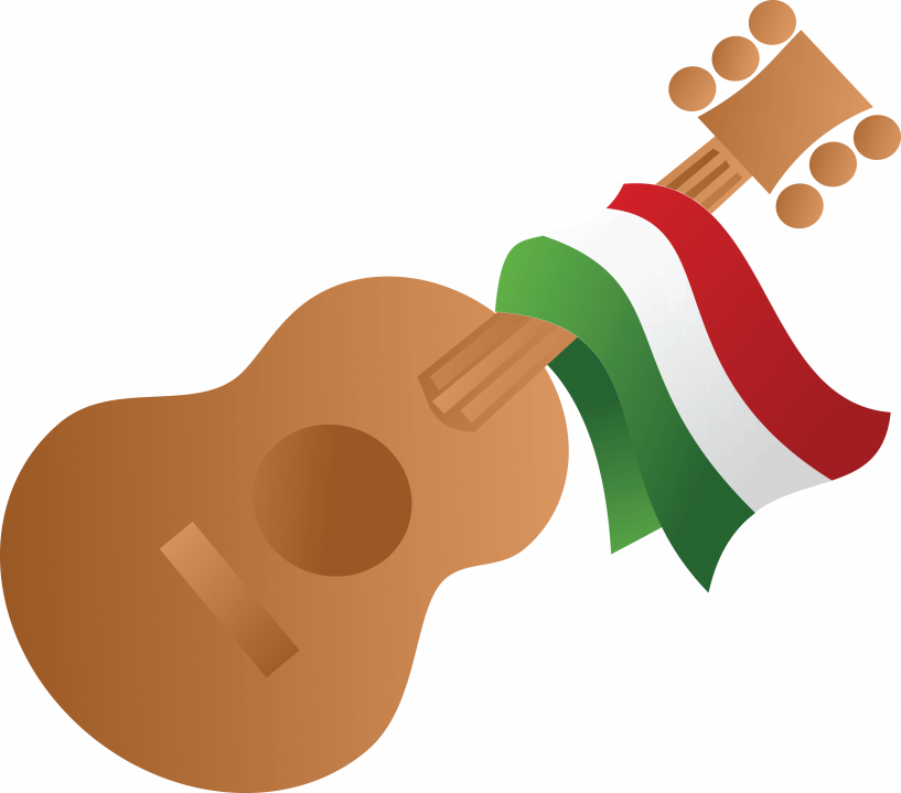 Clipart guitar hispanic. Free of a mexican