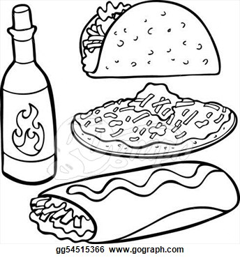 Mexican clipart drawing. Food drawings at paintingvalley