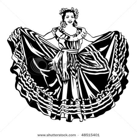 Ballet mi cultura in. Mexican clipart folklorico