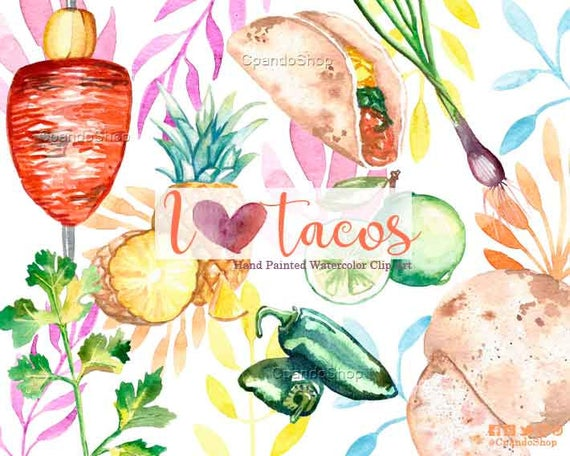 Taco clip art food. Mexican clipart invitation