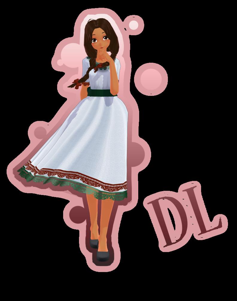 Aph oc mmd model. Mexico clipart dress mexican