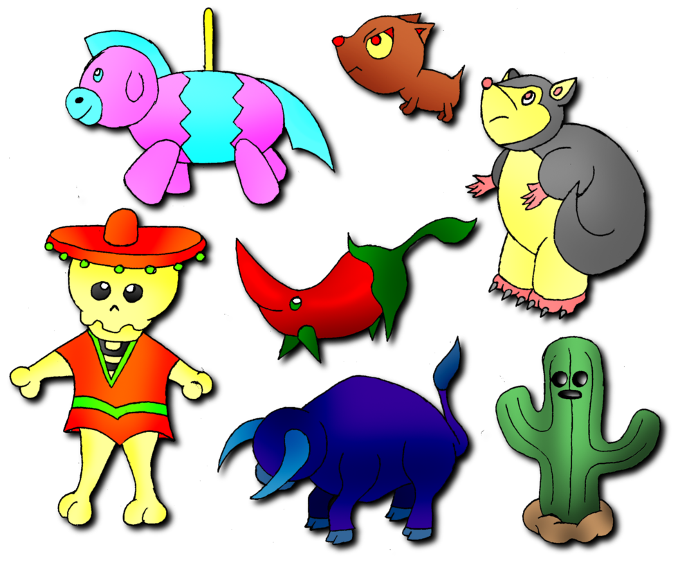 Fakemon mexico by oneilmarty. Mexican clipart pinata