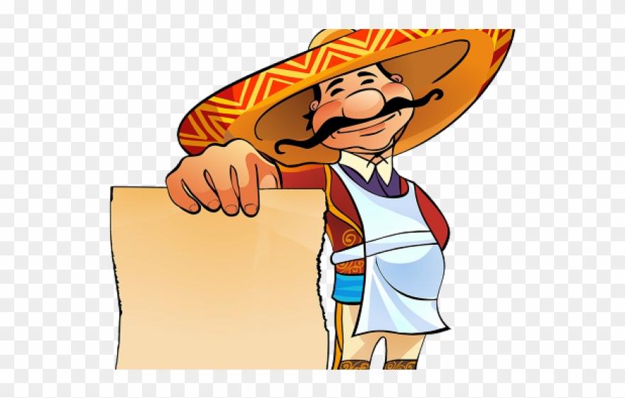Mexico clipart poncho mexican. Restaurant man cartoon png