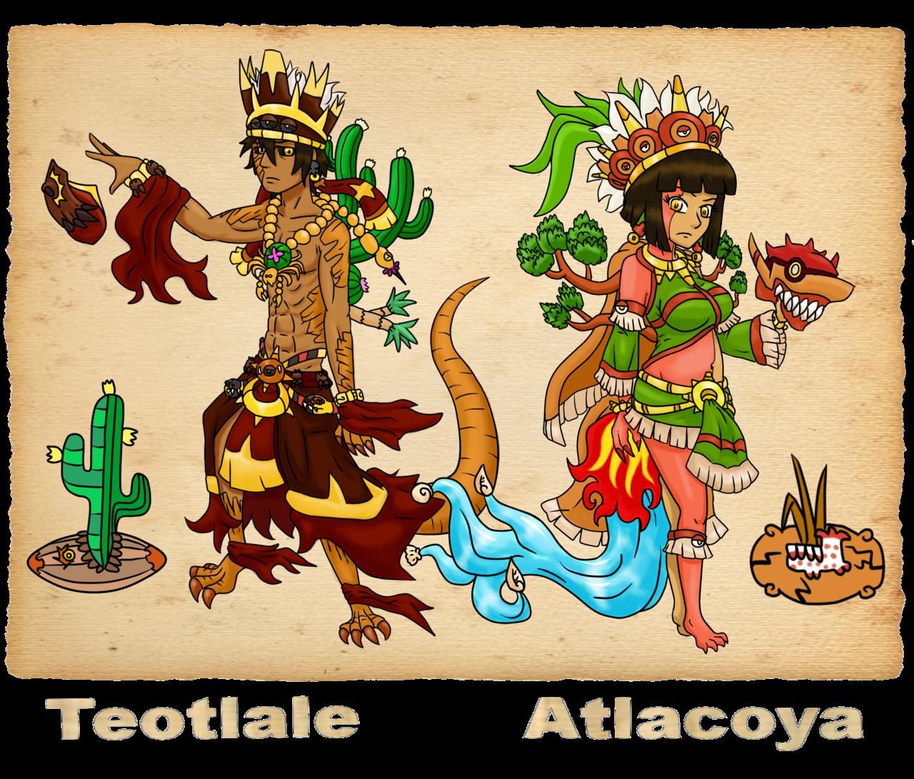 Mexican clipart senorita. Atlacoya y teotlale pinup