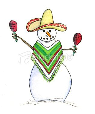 Mexican clipart snowman. Holiday party ideas christmas