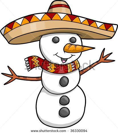 Pin by kari johnson. Mexican clipart snowman