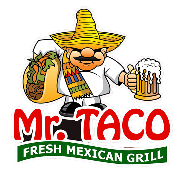 Mr taco fresh grill. Mexican clipart tostada