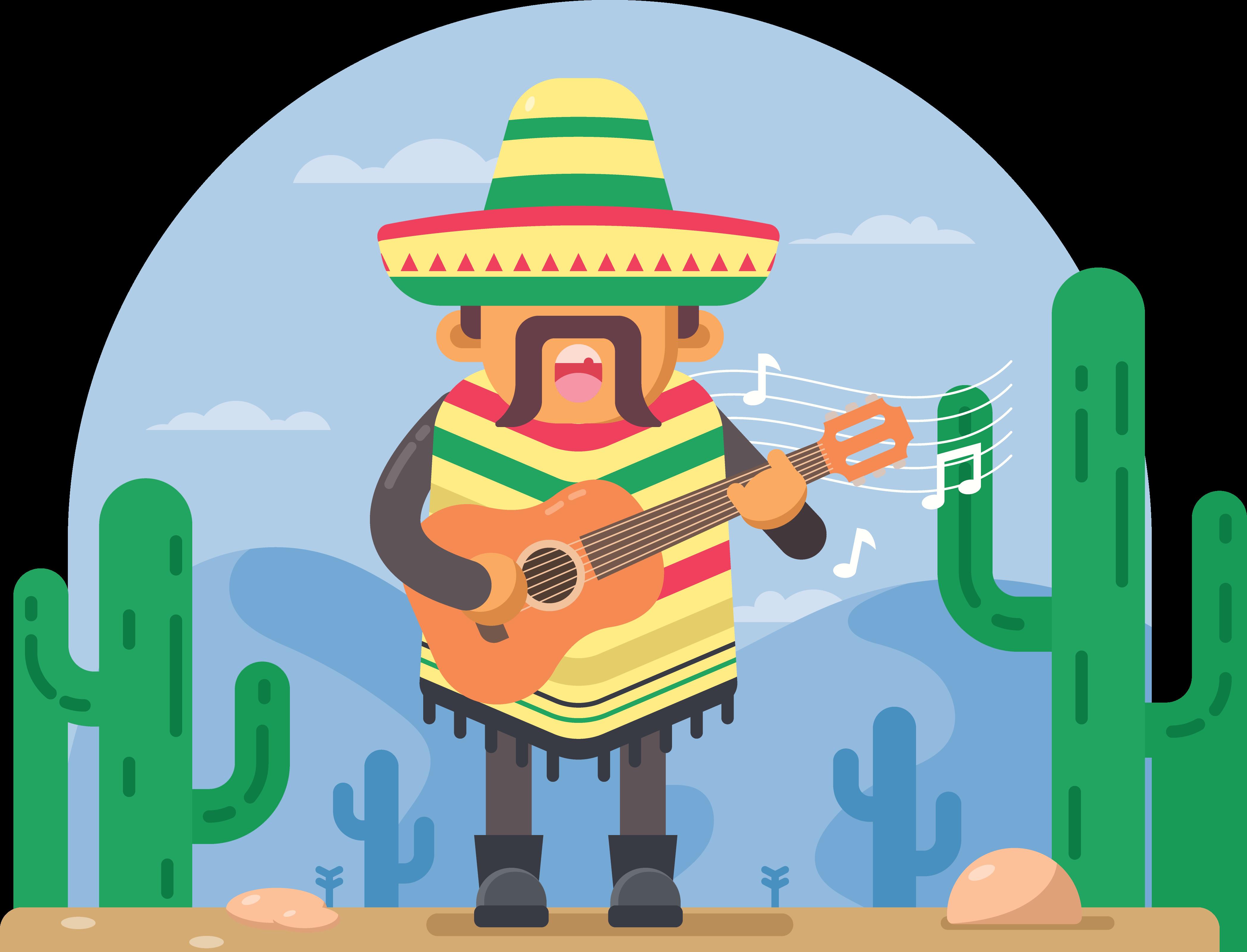 Mexico clipart cactus. Mexican cuisine taco illustration