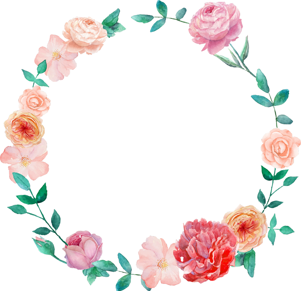Flower watercolor floral png. Mexican clipart wreath