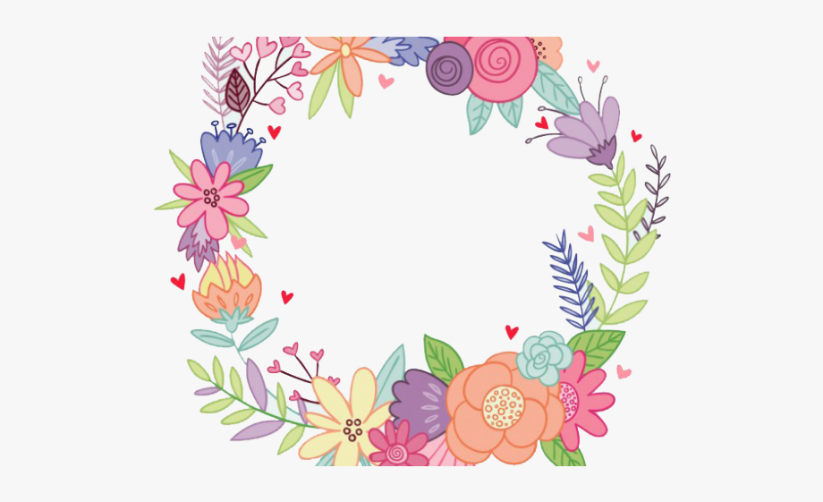 Floral watercolor flower png. Mexican clipart wreath