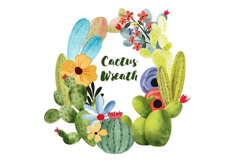 Mexican clipart wreath. Cactus clip art illustration