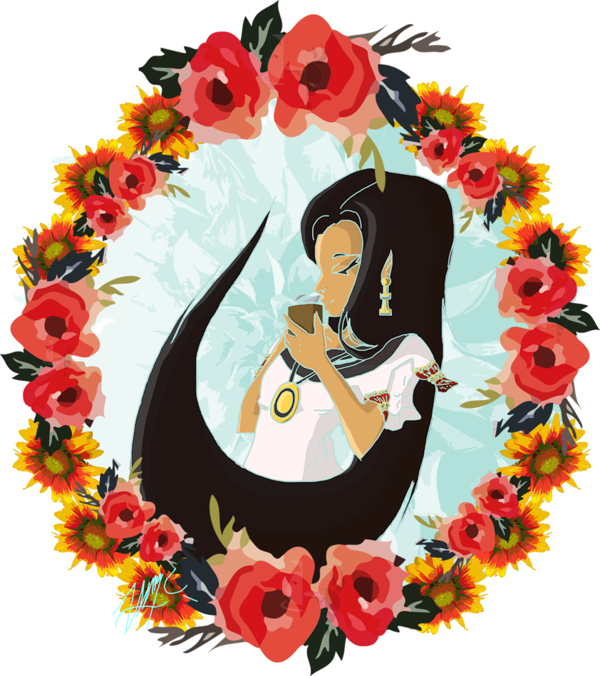 Mexican clipart wreath. Coffee by hilliurn on