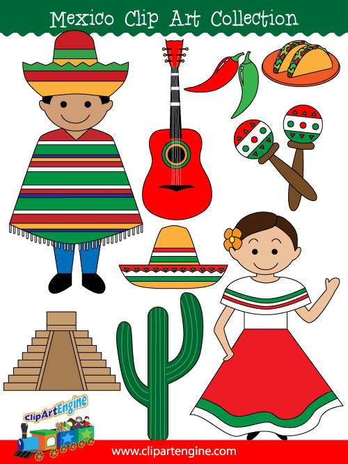 Clip art collection for. Mexico clipart