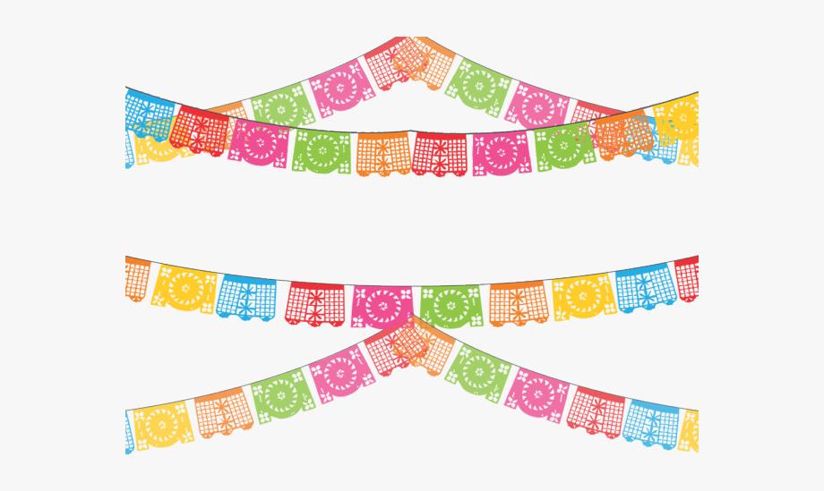 Mexico clipart background. Papel picado transparent