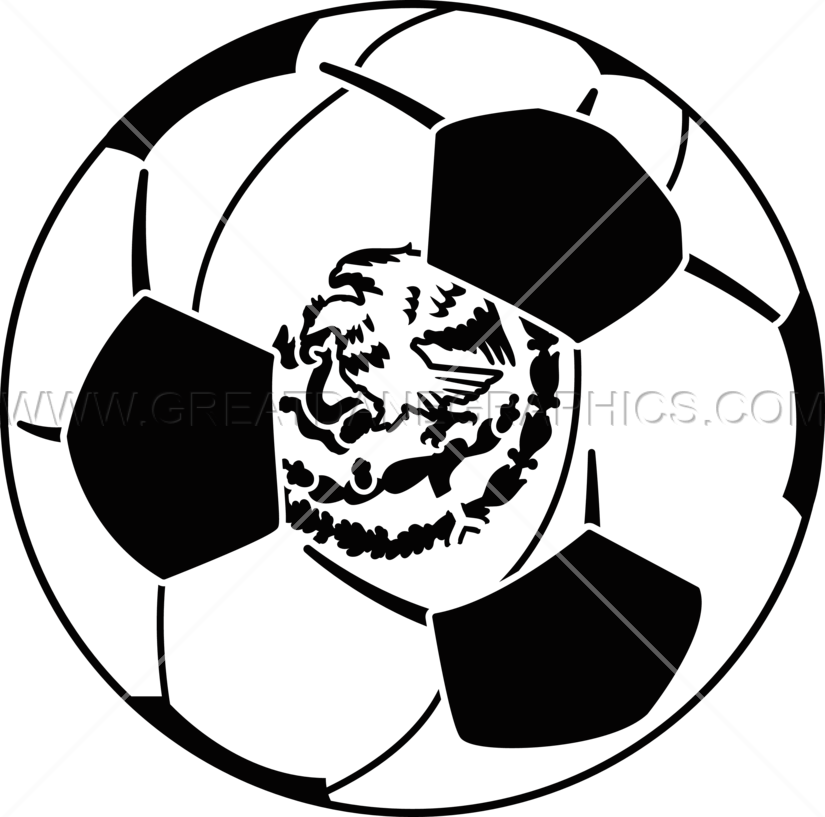 Ball production ready artwork. Mexico clipart black and white